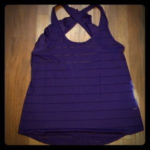 Fun Purple Workout Tank with Ruffle Detail